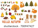a set of autumn elements.... | Shutterstock .eps vector #700947427