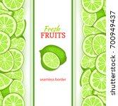 ripe lime vertical seamless... | Shutterstock . vector #700949437