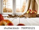autumn background of free space ... | Shutterstock . vector #700953121