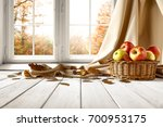 autumn background of free space ... | Shutterstock . vector #700953175