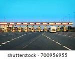 caravan at toll road... | Shutterstock . vector #700956955