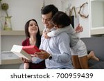 father's day.happy family ...   Shutterstock . vector #700959439