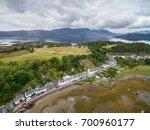 Aerial View Of Plockton Village ...