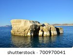 white volcanic cliffs at... | Shutterstock . vector #700970041