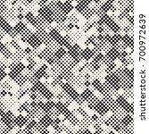 modern stylish halftone texture.... | Shutterstock .eps vector #700972639