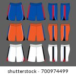 set of sport shorts template | Shutterstock .eps vector #700974499