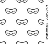 swimming glasses seamless... | Shutterstock .eps vector #700978975