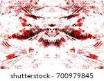 red black white aged grunge... | Shutterstock . vector #700979845