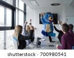 boss dresed as teddy bear...   Shutterstock . vector #700980541