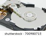 hard disk driver open closeup... | Shutterstock . vector #700980715
