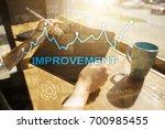 improvement graph on virtual... | Shutterstock . vector #700985455