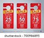 door hanger design template ... | Shutterstock .eps vector #700986895