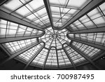 glass rooftop at guggenheim... | Shutterstock . vector #700987495