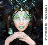 fantasy portrait of a woman... | Shutterstock . vector #700988371