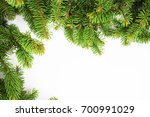 new year frame with christmas... | Shutterstock . vector #700991029