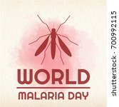 world malaria day  25 april.... | Shutterstock .eps vector #700992115