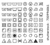 laundry and washing icon set.... | Shutterstock .eps vector #700996861