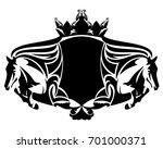equestrian heraldry with...   Shutterstock . vector #701000371