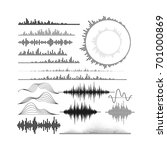 set of audio equalizer shapes.... | Shutterstock .eps vector #701000869