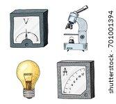 ammeter or voltmeter ... | Shutterstock .eps vector #701001394