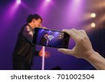 live video streaming concept... | Shutterstock . vector #701002504