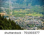 Martigny. Capital of the French Speaking District of Martigny in the Canton of Valais in Switzerland - stock photo