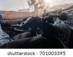 semi truck driving job.... | Shutterstock . vector #701003395