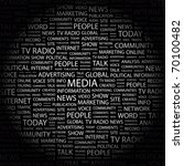 media. word collage on black... | Shutterstock .eps vector #70100482