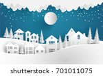 views of the house in winter.... | Shutterstock .eps vector #701011075