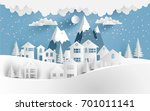views of the house in winter.... | Shutterstock .eps vector #701011141