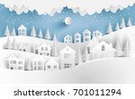 views of the house in winter.... | Shutterstock .eps vector #701011294