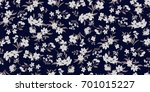 seamless floral pattern in... | Shutterstock .eps vector #701015227