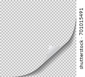 blank transparent sheet of... | Shutterstock .eps vector #701015491