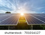 solar panel on sky sunset... | Shutterstock . vector #701016127