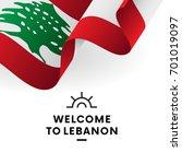 welcome to lebanon. lebanon... | Shutterstock .eps vector #701019097