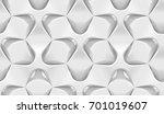 white abstract hexagonal... | Shutterstock . vector #701019607