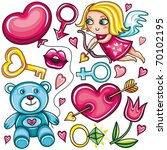 decorative valentine elements... | Shutterstock .eps vector #70102195