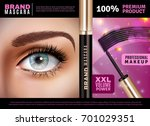 mascara design background with... | Shutterstock .eps vector #701029351