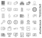 money icons set. outline style... | Shutterstock .eps vector #701031565