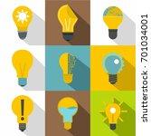 light bulb icons set. flat set... | Shutterstock .eps vector #701034001