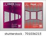 brochure. geometric halftone... | Shutterstock .eps vector #701036215