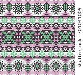 vector seamless ethnic pattern. ... | Shutterstock .eps vector #701041009