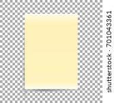 yellow sheet of paper format a4 ... | Shutterstock .eps vector #701043361