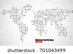 abstract world map of dots on... | Shutterstock .eps vector #701043499