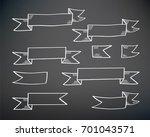 set of ribbon banners. hand... | Shutterstock .eps vector #701043571