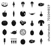 street shop icons set. simple... | Shutterstock .eps vector #701044819