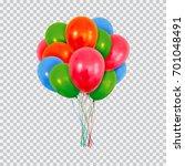 Helium Balloons Set. Birthday...