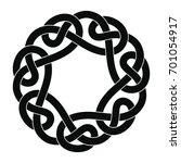 celtic national ornament in the ...   Shutterstock .eps vector #701054917