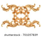 gold ornament on a white... | Shutterstock . vector #701057839