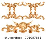 gold ornament on a white...   Shutterstock . vector #701057851